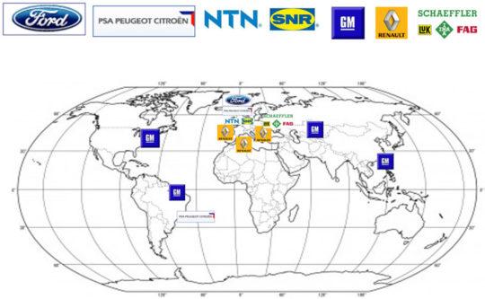 Mapa odberateľov spoločnosti CIE Mar Sk